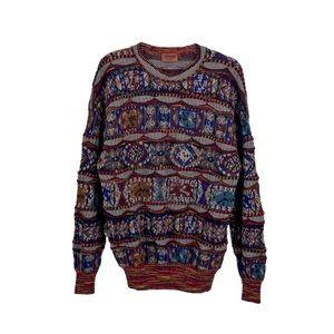 Missoni Vintage Jacquard Knit Long Sleeve Sweater